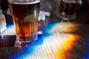Beer with rainbow